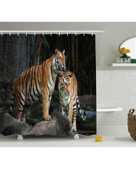 jungle print curtains animal shower curtain tiger couple in jungle print for