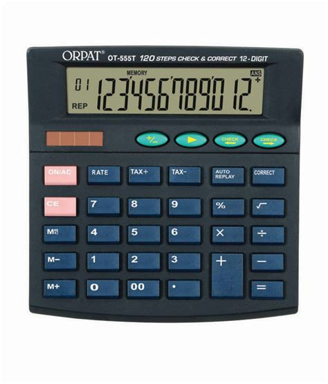 orpat ot 555t check correct calculator buy at
