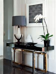 Decorating A Console Table How To Decorate A Living Room With A Modern Console Table