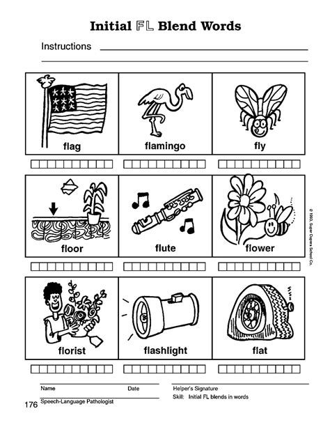 L Blend Worksheets by Speech Therapy With Miss L Blend Words
