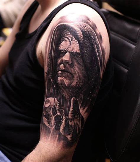 palpatine with darth vaders hand tattoo best tattoo