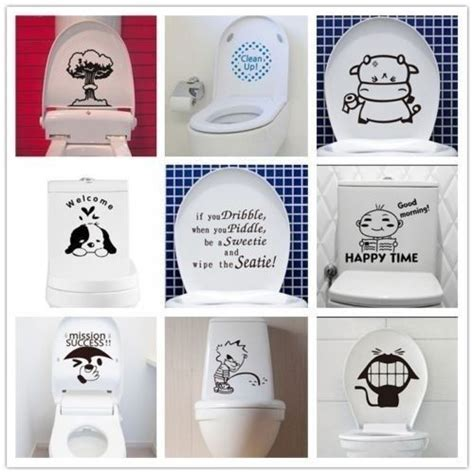 Sticker Wallpaper The Best Seat new toilet seat wall sticker vinyl removable bathroom wall decals decor ebay