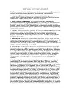 Simple Contractor Agreement Template by Simple Independent Contractor Agreement Template