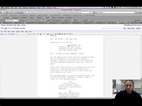 docs script template using the docs screenplay template