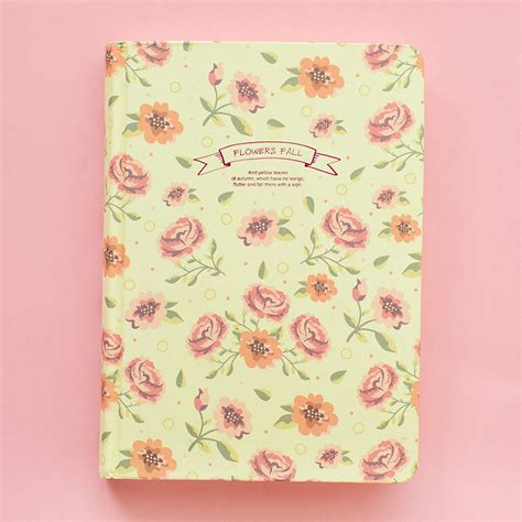 flower design notebooks vintage flower diary notebook free shipping girly