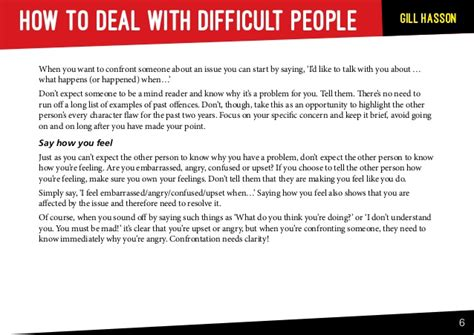 how to deal with difficult people sle chapter