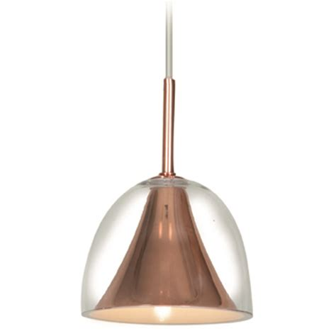 Access Lighting Metalico Rose Gold Mini Pendant Light With Gold Pendant Light