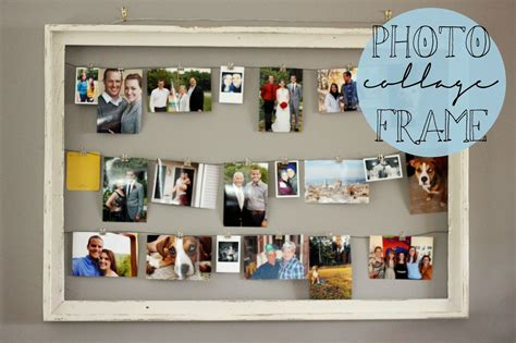 collage in a frame diy rustic photo collage frame