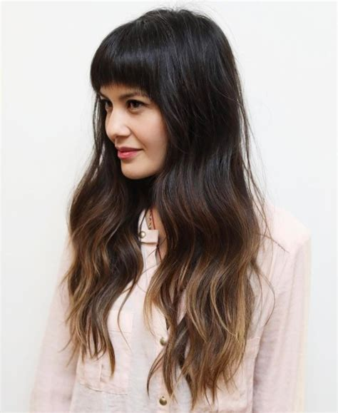 images of ombre hairstyles with fringes 50 cute long layered haircuts with bangs 2018