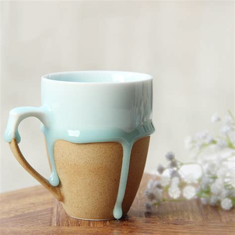 design cups vintage design creative ceramic coffee tea mug flow glaze