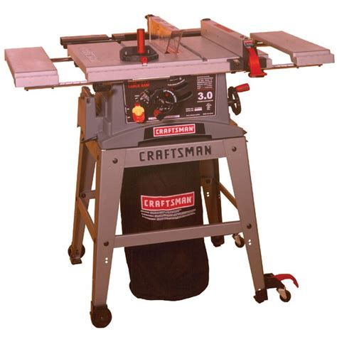 craftsman bench saw craftsman 10 in table saw with dust collection system and