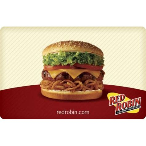 Red Robin Gift Cards - 50 red robin gift card only 40 mybargainbuddy com