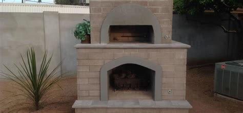 Fireplace And Pizza Oven by Brick Pizza Oven Outdoor Fireplace Desert