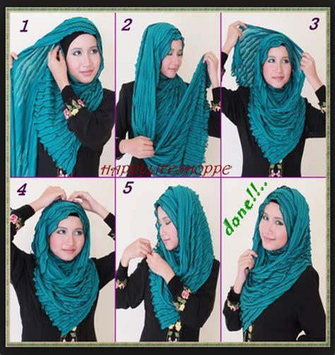 tutorial menggambar wanita berhijab gambar tutorial hijab modern casual
