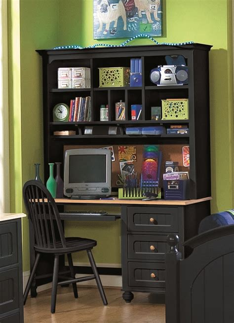 Student Desk With Hutch Blackherpowerhustle Com Black Desk With Hutch