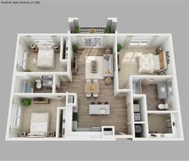 Small Three Bedroom House Plans bedroom house floor plan 3d on 3d small house plans three bedroom