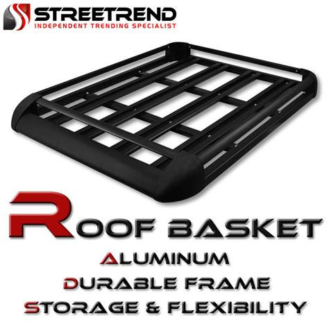 universal 50 quot blk aluminum roof top rack basket luggage