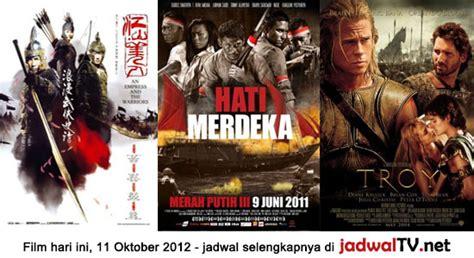 jadwal film merah putih di sctv jadwal film dan sepakbola 11 oktober 2012 jadwal tv