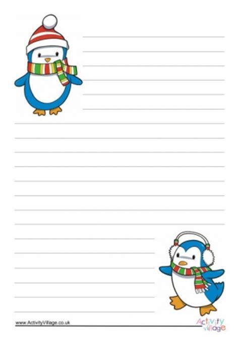 printable christmas story paper penguin printables