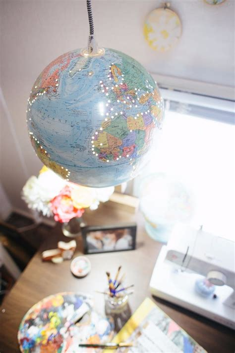 diy globe pendant light 50 indoor lighting ideas for your diy list