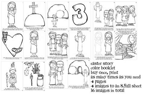 easter coloring pages lds primary easter story color booklet 16 images primary lds