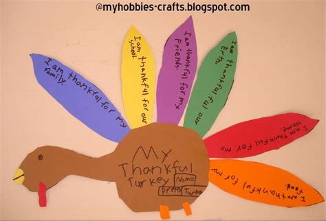 Thanksgiving Construction Paper Crafts - my hobbies and crafts thankful turkey craft