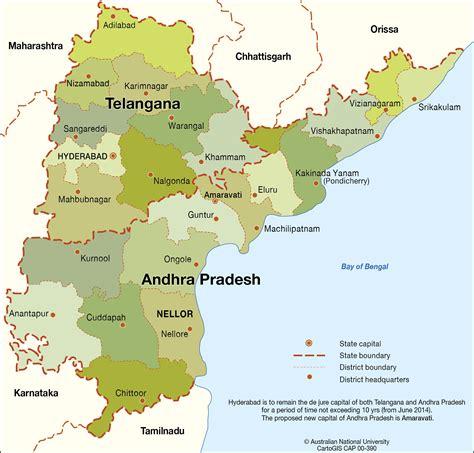 Andhra Pradesh Search Andhra Pradesh And Telangana States Cartogis Services Maps Anu