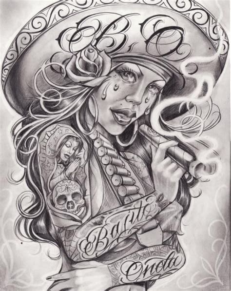 tattoo chicano pinterest boog cartoon gangster chicano tattoo mister flash book