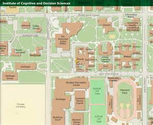 u of oregon map contact us institute of cognitive and decision sciences