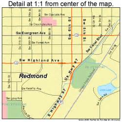 Redmond Oregon Map by Redmond Oregon Street Map 4161200