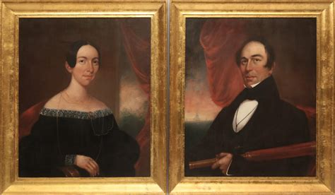 james hathaway pair  coffin family portrait oils