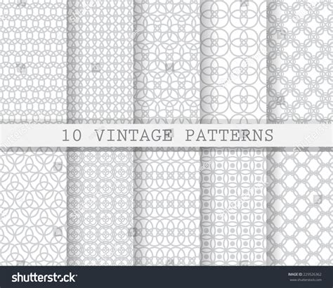 Pattern And Texture Difference | 10 different soft seamless patterns pattern stock vector
