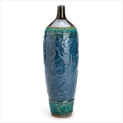 embossed floral urn vase