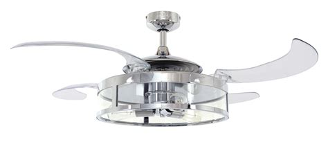 retractable blade ceiling fan retractable blade ceiling fan fanaway classic chrome