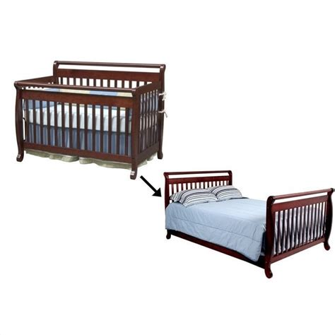 Convertible Crib Rails Davinci Emily 4 In 1 Convertible Crib With Bed Rails In Cherry M4791c M4799c Pkg