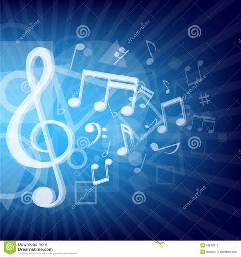 blue soundtrack la musique moderne note le fond bleu illustration de