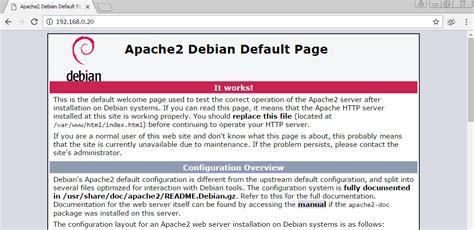 tutorial konfigurasi web server debian 5 cara instalasi dan konfigurasi web server apache2 pada