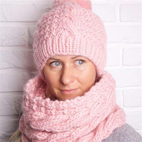 aran knit hats free patterns aran hat and cowl knitting pattern on luulla