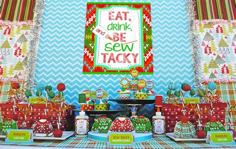 ugly christmas party ideas rewards quot let s be sew tacky quot design dazzle