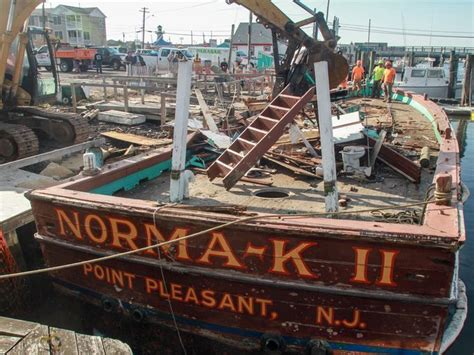 party boat fishing point pleasant nj end of an era the norma k ii demolished dockside in pt