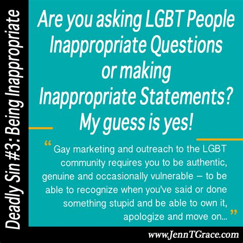 Inappropriate Or Question Are You Asking Lgbt Inappropriate Questions My