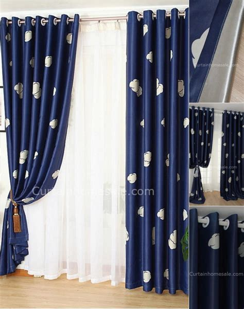 Bedroom Superb Bedroom Blackout Curtains Navy Blue And | cheap soundproof navy blue blackout bedroom curtain on sale