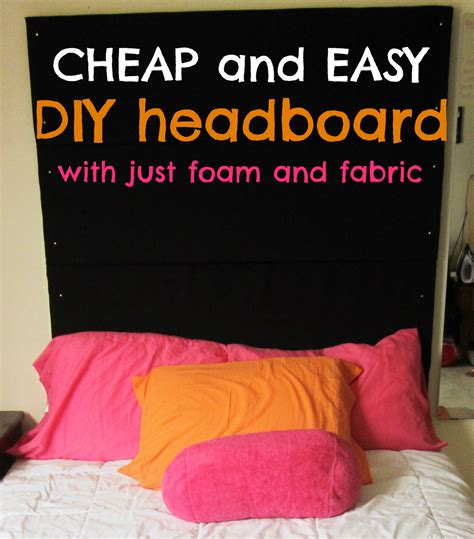 foam for diy headboard love elizabethany pinteresting i finally made a headboard