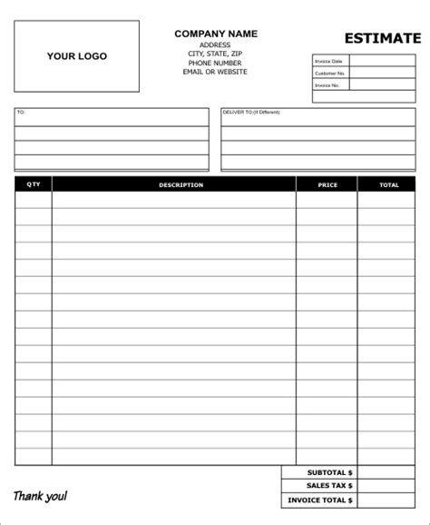 Carbonless Sales Receipt Templates To Personalize Carbon Copies Estimate Paper Template
