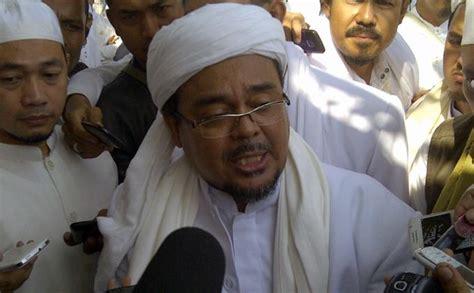 foto habib rizieq shihab sekretaris pp muhammadiyah bisiki jokowi agar temui habib