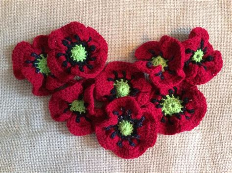 pattern crochet poppy august flower of the month poppy knitting crochet patterns