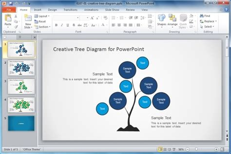 Download Creative Tree Diagram Powerpoint Template Jpg Slidemodel Attractive Powerpoint Presentation Templates