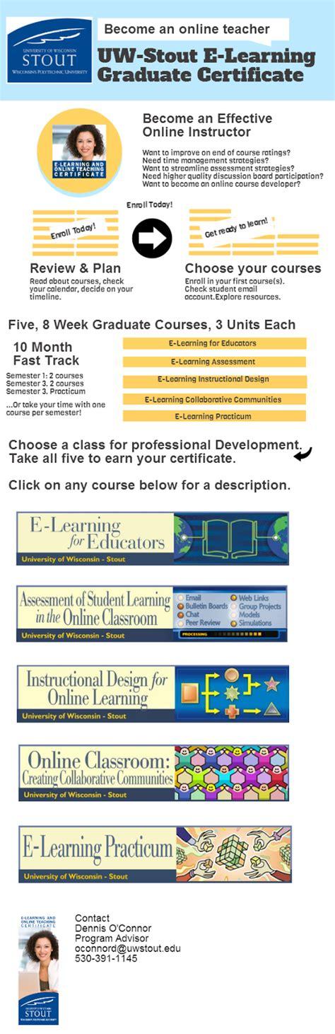 Instructional Design Certificate Uw Stout | elearning and instructional design certificate programs