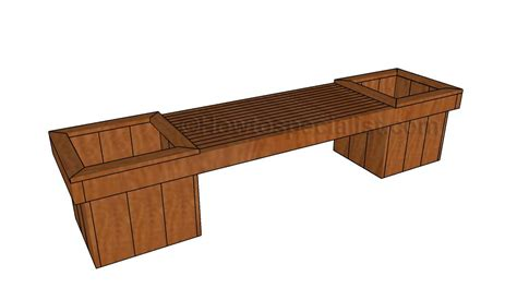 How To Build A Planter Bench Howtospecialist How To Build Step By Step Diy Plans