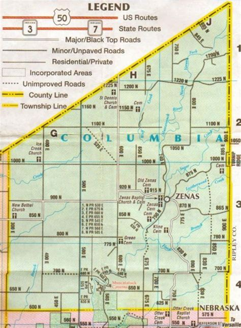 Columbia Records Genealogy Current Columbia Township Map